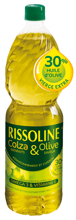 Mélange d'huile de colza et d'huile d'olive vierge extra