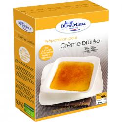 Crème brûlée avec sucre à caraméliser