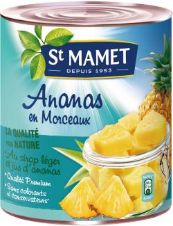 Ananas en morceaux avec jus