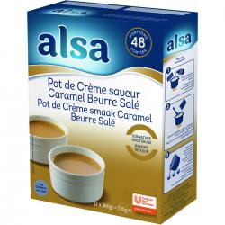Pot de crème saveur caramel beurre salé