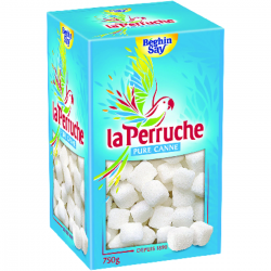 Morceaux de sucres blancs irréguliers