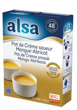 Pot de crème saveur mangue-abricot