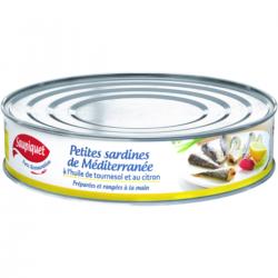 Petites sardines de Méditerranée à l'huile de tournesol et citron