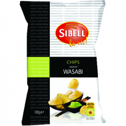 Chips saveur wasabi