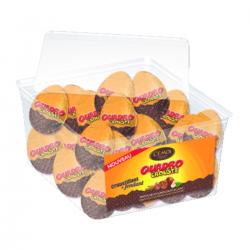 Œufs QUADRO CROUSTI chocolat au lait, praliné aux éclats de biscuits de noisettes