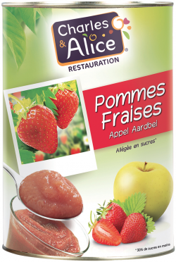 Compote pomme-fraise