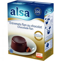 Entremets flan au chocolat