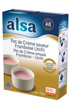 Pot de crème saveur framboise-litchi