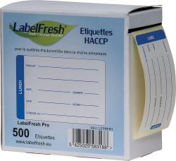 Boîte distributrice étiquettes lundi 7 x 4,5 cm