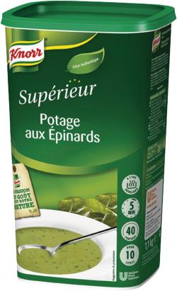 Potage aux épinards